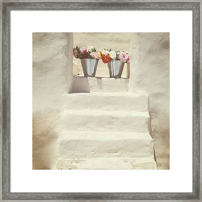 White Steps Framed Print by Joana Kruse