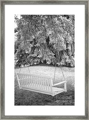 White Swing Black And White Framed Print by James BO  Insogna