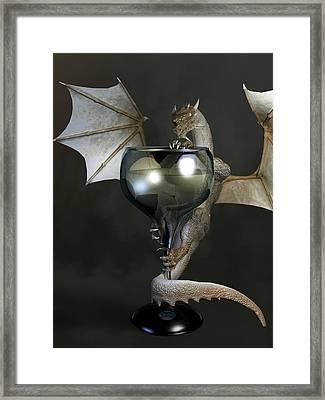 White Wine Dragon Framed Print by Daniel Eskridge