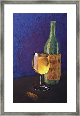 White Wine Framed Print by Garry McMichael