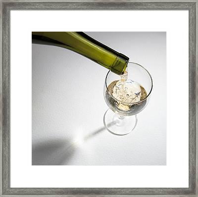 White Wine Framed Print by Mark Sykes