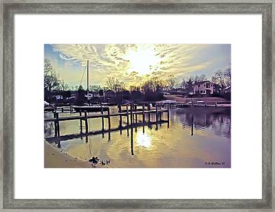 White's Cove In Winter Framed Print by Brian Wallace