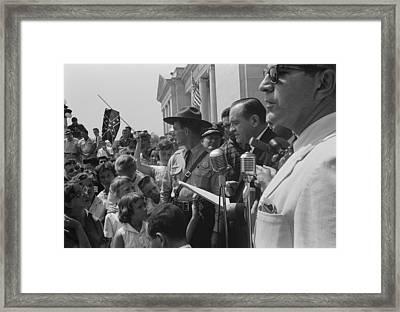 Whites Protesting The Court Ordered Framed Print by Everett