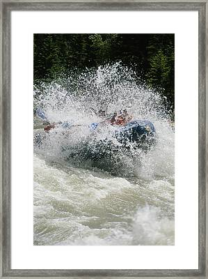 Whitewater Rafting The Lunch Counter Framed Print by Gordon Wiltsie