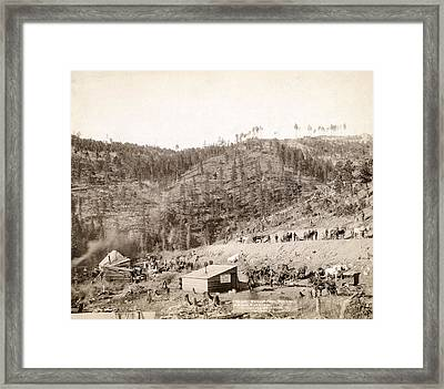 Whitewood Canyon, Wade And Jones R.r Framed Print by Everett