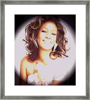 Whitney Houston Song Bird No. 3 Framed Print by De Beall