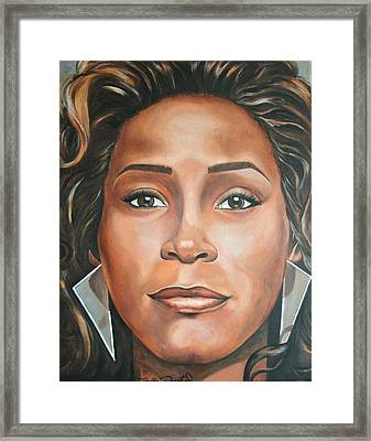 Whitney Houston Framed Print by Timothe Winstead