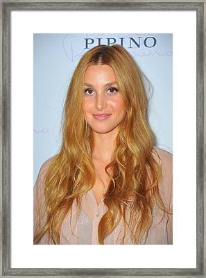 Whitney Port At Arrivals For Pipino 57 Framed Print by Everett