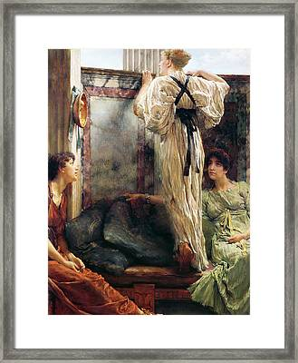 Who Is It Framed Print by Sir Lawrence Alma-Tadema