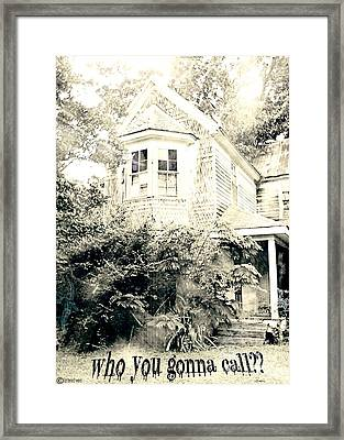 Who You Gonna Call Framed Print by Lizi Beard-Ward