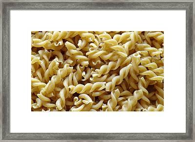 Wholemeal Pasta Framed Print by Frank Tschakert