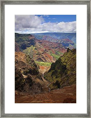 Wiamea Depth Framed Print by Mike  Dawson