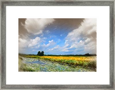 Wide Country Framed Print by Steve K