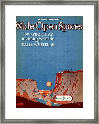 Wide Open Spaces Framed Print by Mel Thompson