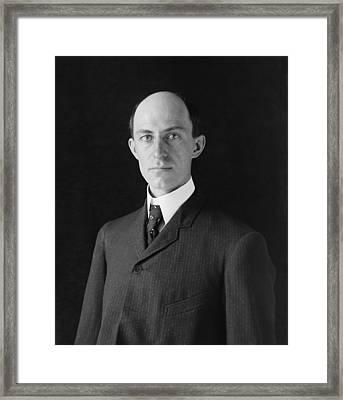 Wilbur Wright 1867-1912 At Age 38 Framed Print by Everett