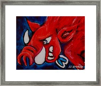 Wild Hog Framed Print by Laura  Grisham