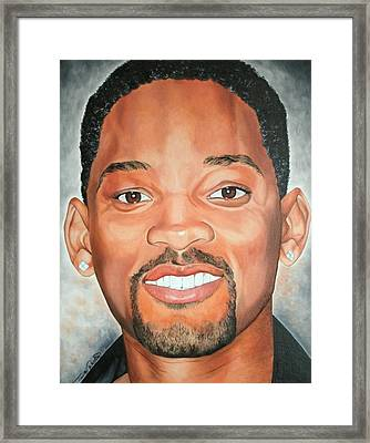 Will Smith Framed Print by Timothe Winstead