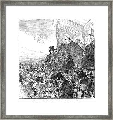 Willaim Ewart Gladstone Framed Print by Granger