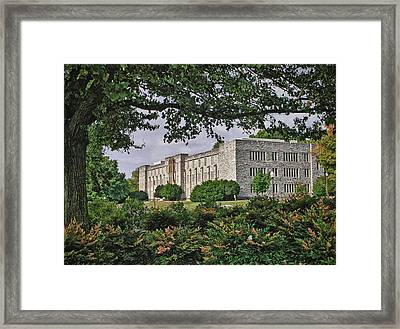 Williams Hall Virginia Tech Framed Print by Kathy Jennings