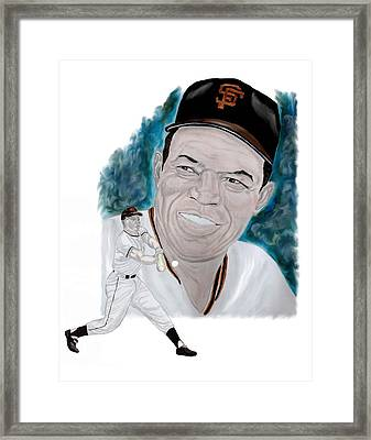 Willie Mays Framed Print by Steve Ramer