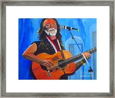 Willie Nelson Framed Print by Jayne Kerr