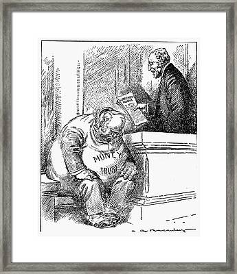 Wilson Cartoon, 1913 Framed Print by Granger