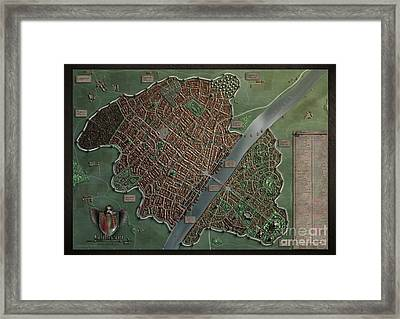Wilthorm - A Fantasy City Framed Print by Markus Holzum