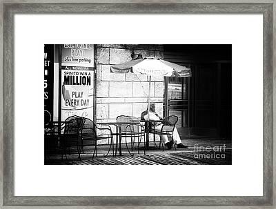 Win A Million Dollars Framed Print by John Rizzuto