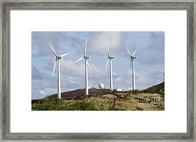 Wind Turbines At The Ascension Framed Print by Stocktrek Images