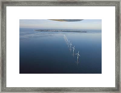 Wind Turbines Provide Energy Framed Print by Andrew Henderson