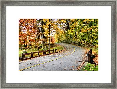 Winding Road Framed Print by Kristin Elmquist