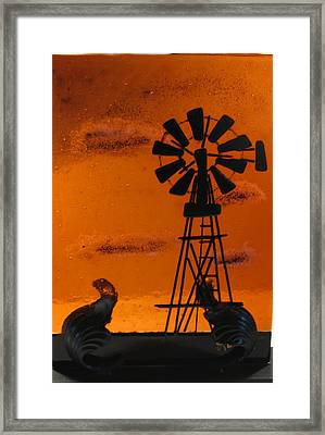 Windmill Framed Print by Lisa Kohn