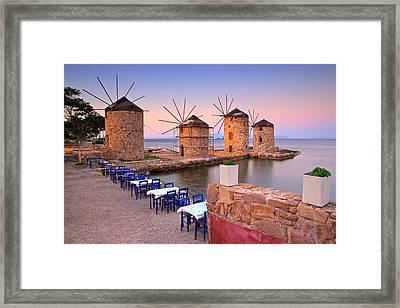 Windmills 2  Framed Print by Emmanuel Panagiotakis
