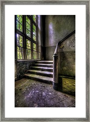 Window And Stairs Framed Print by Nathan Wright