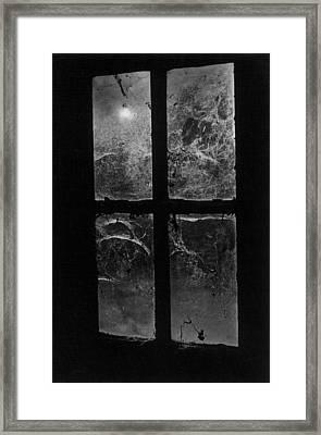 Window At Castle Frankenstein Framed Print by Simon Marsden