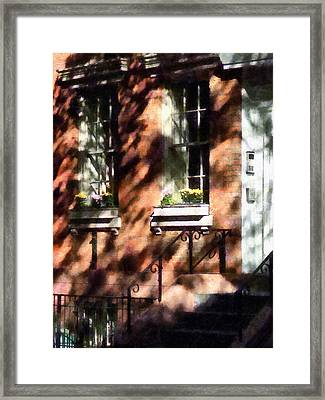 Window Boxes Greenwich Village Framed Print by Susan Savad
