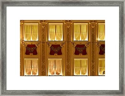 Window Candles Nostalgia Framed Print by Christine Till