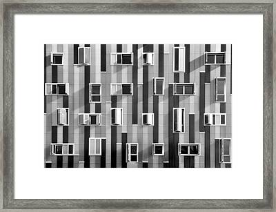 Window Facade Framed Print by Gabriel Sanz (Glitch)