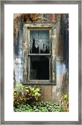 Window In Old Wall Framed Print by Jill Battaglia