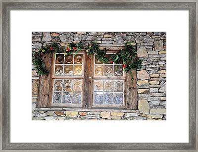 Window In The Old Mill Framed Print by Jan Amiss Photography