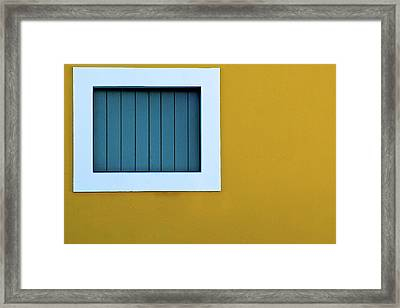 Window Framed Print by L F Ramos-Reyes