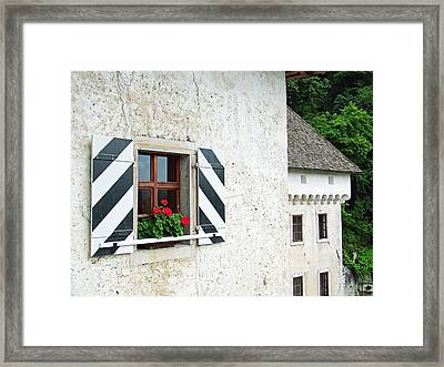 Window Ledge Predjama Castle Predjama Slovenia Framed Print by Joseph Hendrix