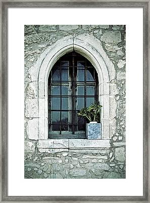 Window Of A Chapel Framed Print by Joana Kruse