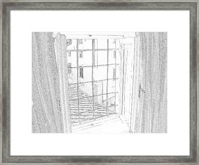 Window To History Framed Print by Michael Belgeri