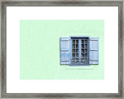 Window With Copy Space Framed Print by Jane Rix