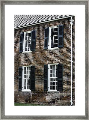 Windows At The Clover Hill Tavern Appomattox Virginia Framed Print by Teresa Mucha