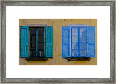 Windows Framed Print by Debra and Dave Vanderlaan