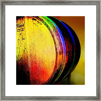 Wine Barrel Framed Print by Cindy Edwards