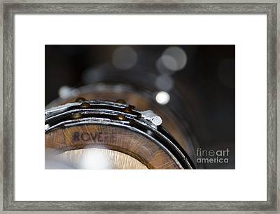 Wine Barrels In Oak Framed Print by Mats Silvan