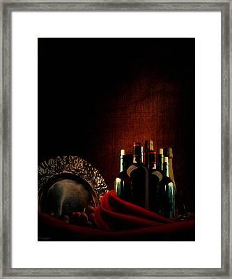 Wine Break Framed Print by Lourry Legarde